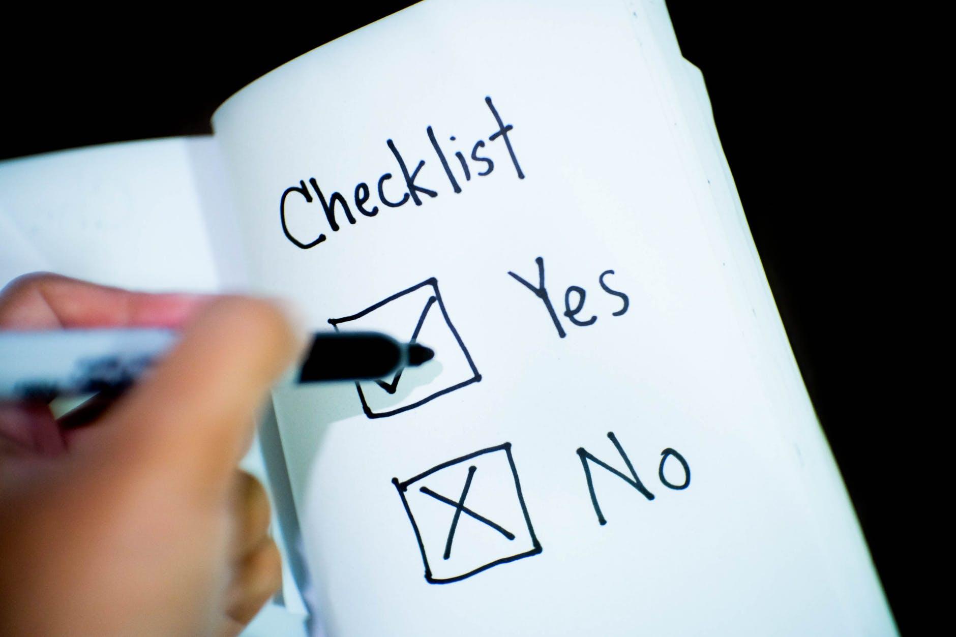 2018 Checklist for Clinicians
